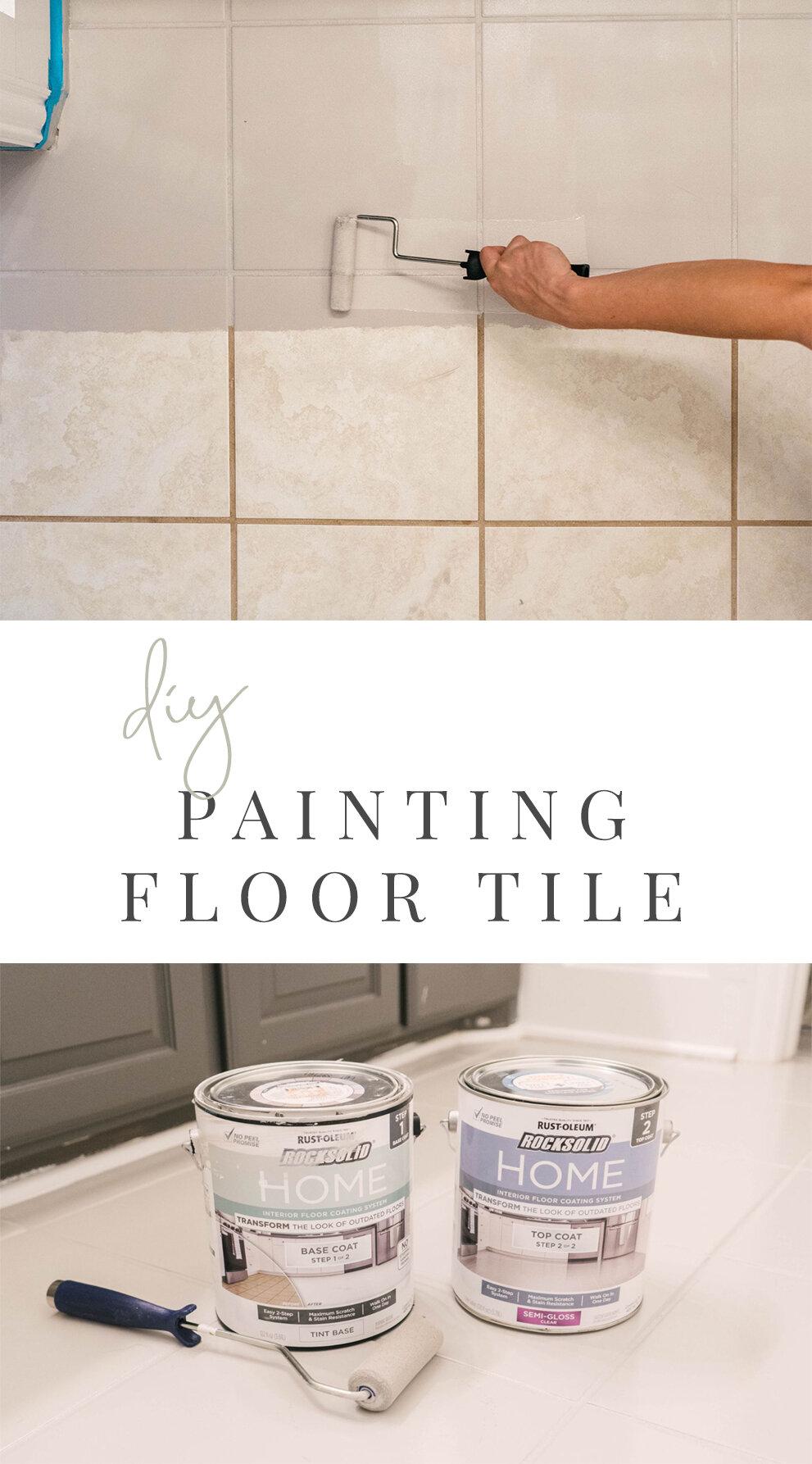 diy how to paint ceramic floor tile