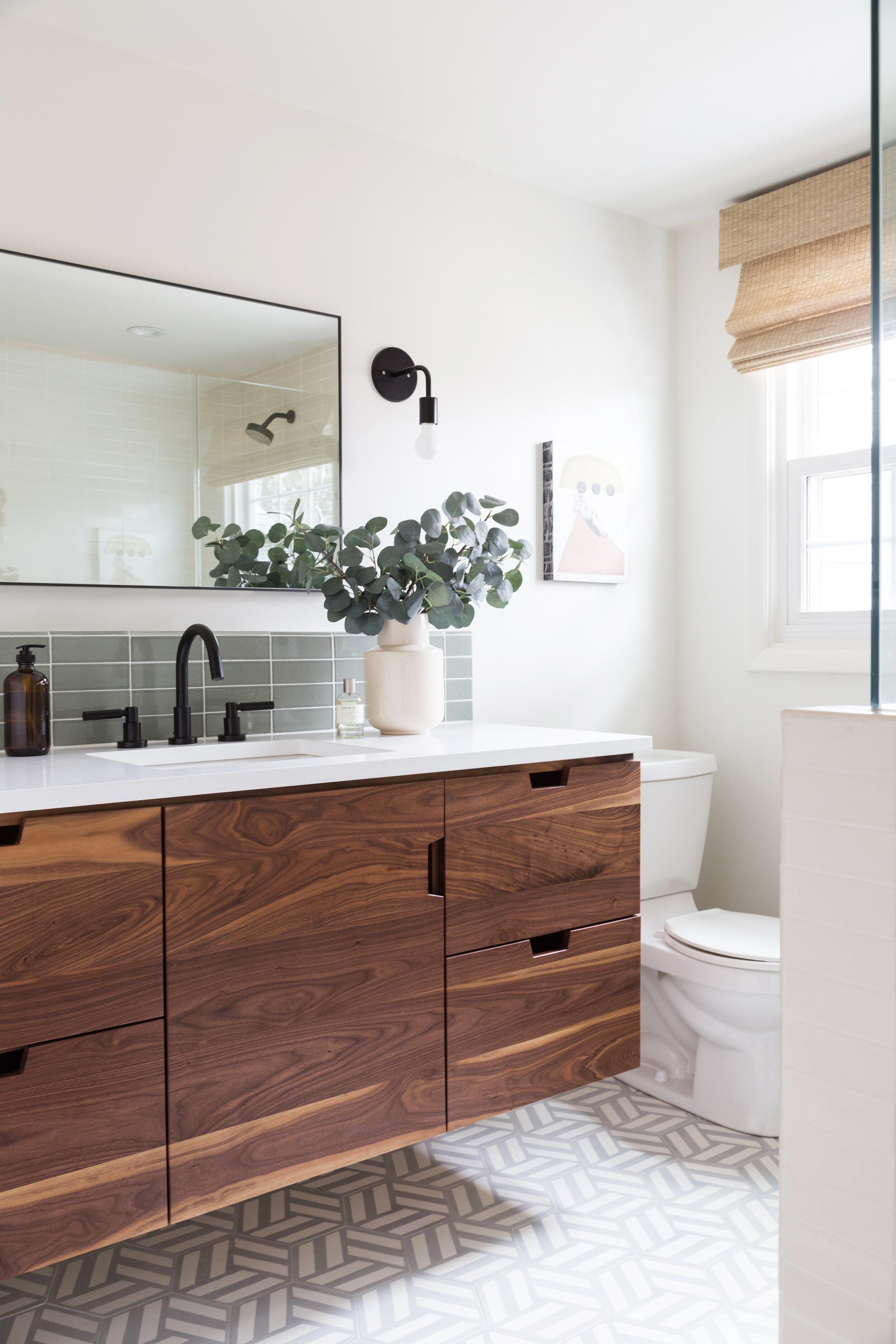 modern bathroom and kitchen renovation in burlington vermont piper interior design