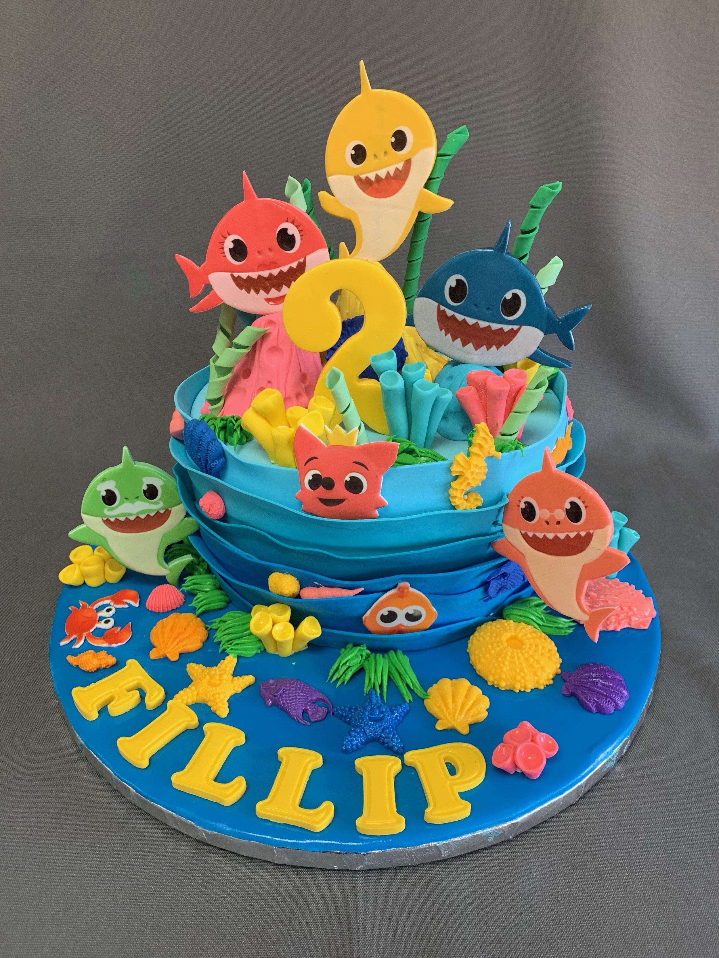 Baby Shark Birthday Cake Skazka Desserts Bakery Nj Custom Birthday Cakes Cupcakes Shop