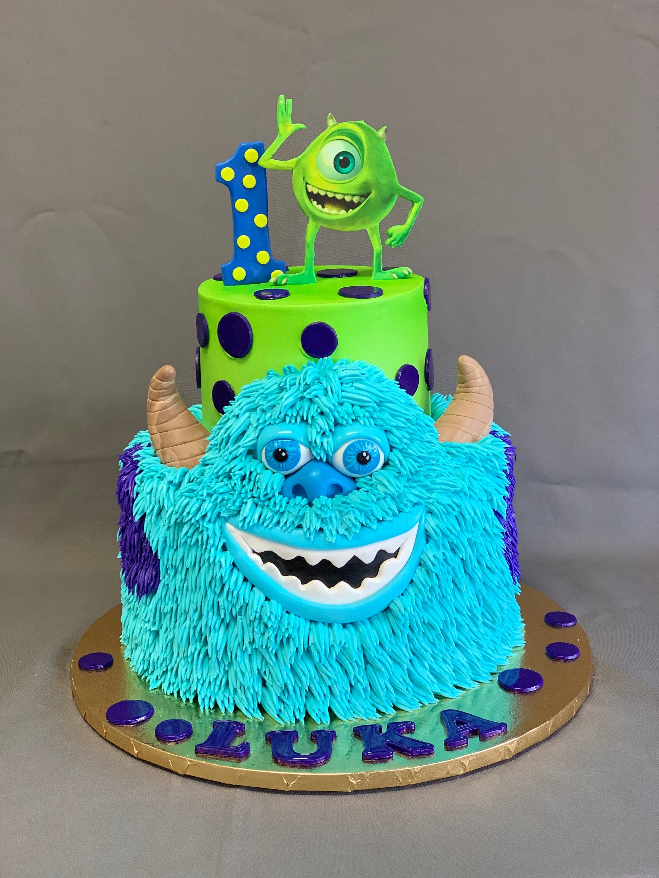 Monsters Inc 1st Birthday Cake Skazka Desserts Bakery Nj Custom Birthday Cakes Cupcakes Shop
