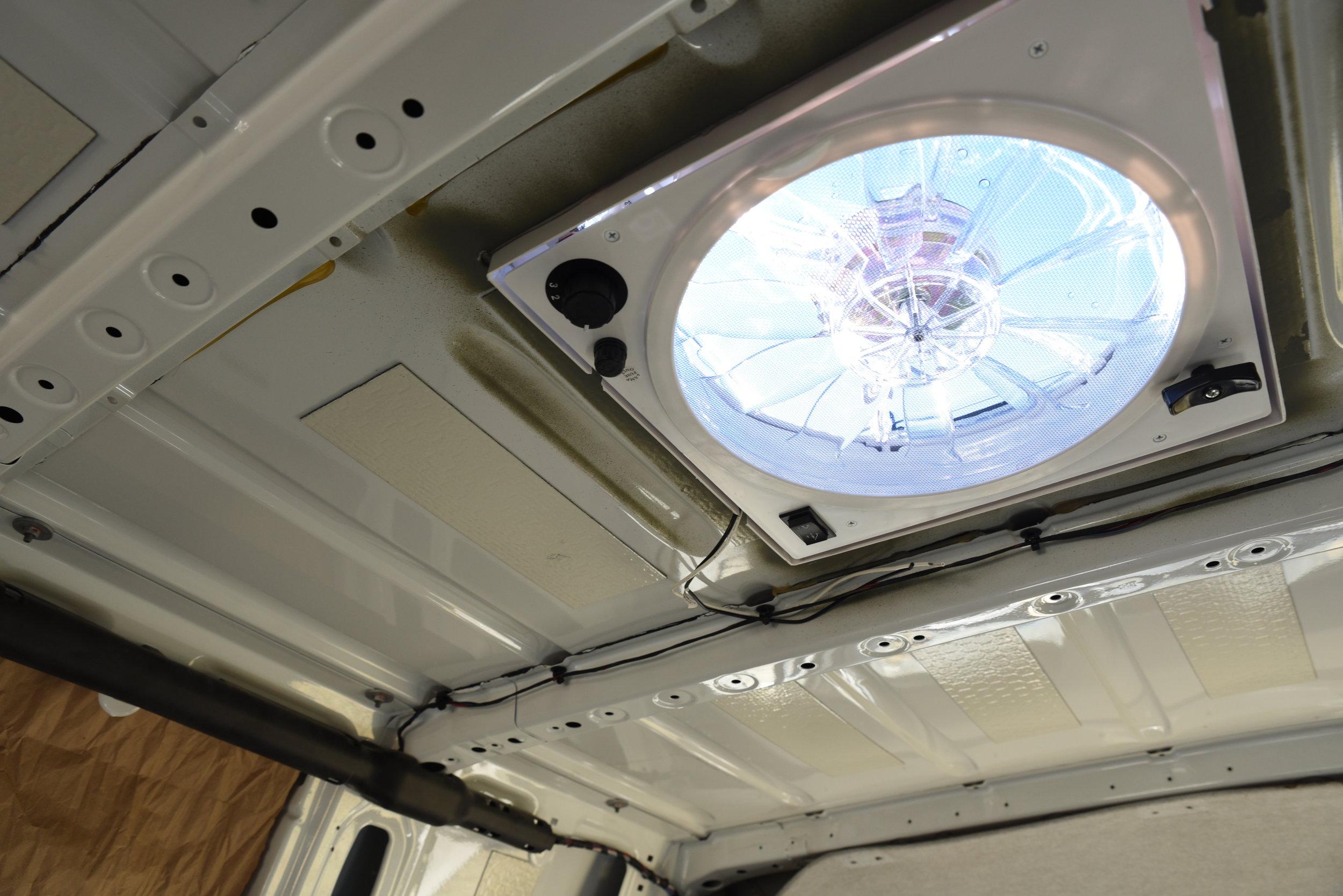 roof fan in our sprinter camper van