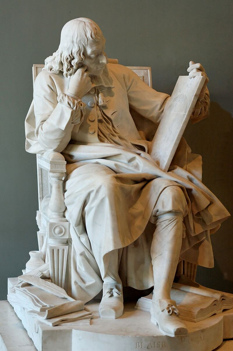 Pascal studying the  cycloid , by Augustin Pajou, 1785