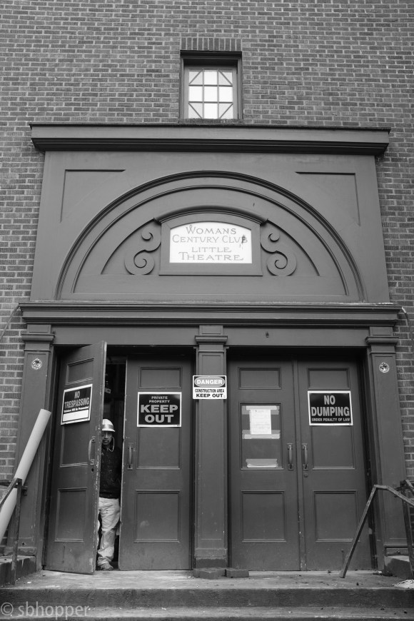 """""""Womans Century Club"""", across the street from the Loveless Building,Capitol Hill, Seattle. I took this photo in February 2017 as this building was being renovated and readied for a post-Harvard Exit life. It stayed empty for a while, but Capitol Hill Seattle reported that it is going to be the new site of the Mexican Consulate."""