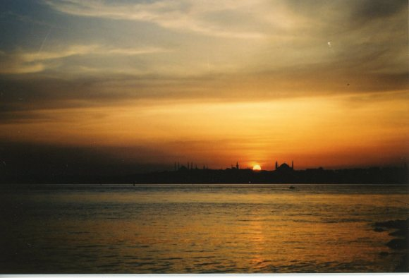 Bosphorus at sunset, sometime between 2000-2002.