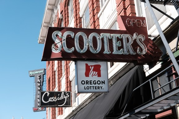Cassidy's and Scooter's, Portland, March 2019.
