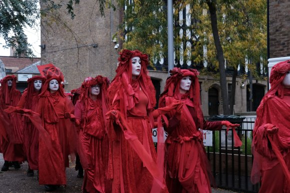 The Red Brigade, Extinction Rebellion, London, October 2019.