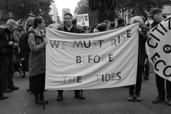 We must rise before the tides. Extinction Rebellion, London, October 2019.