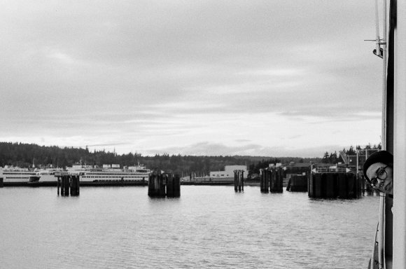 Strange. Ferry to Bainbridge, winter 2019.