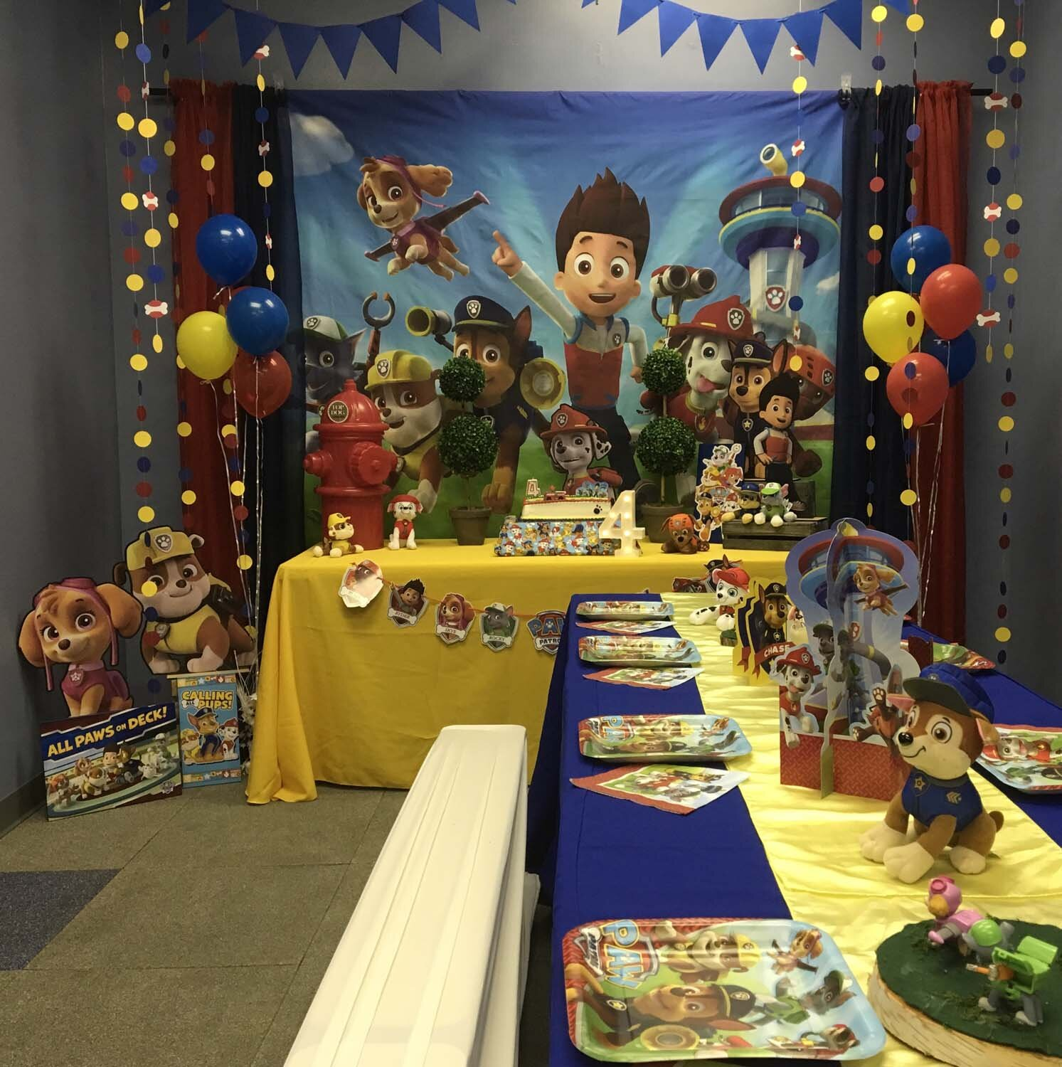 Paw Patrol Themed Party For 4 Year Old Birthday Boy Princesses Princes