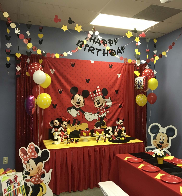 Mickey And Minnie Mouse Themed Birthday Party Orlando Fl Princesses Princes