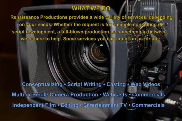 Scriptwriting, video production, commercials, marketing, training ...