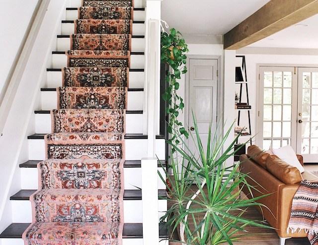 Diy Stair Runner Tutorial — House On A Sugar Hill   Cutting Carpet For Stairs   Carpet Runner   Wood   Stair Nosing   Landing   Underlay