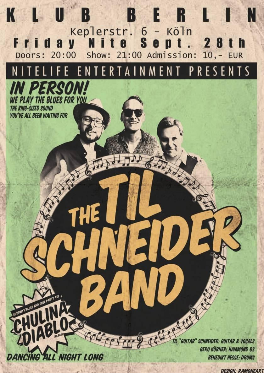 Die Til Schneider Band am 28.09.2018 im Klub Berlin in Köln.