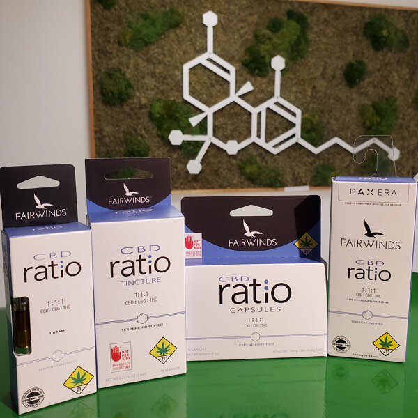 Available in tinctures, vapes and capsules.