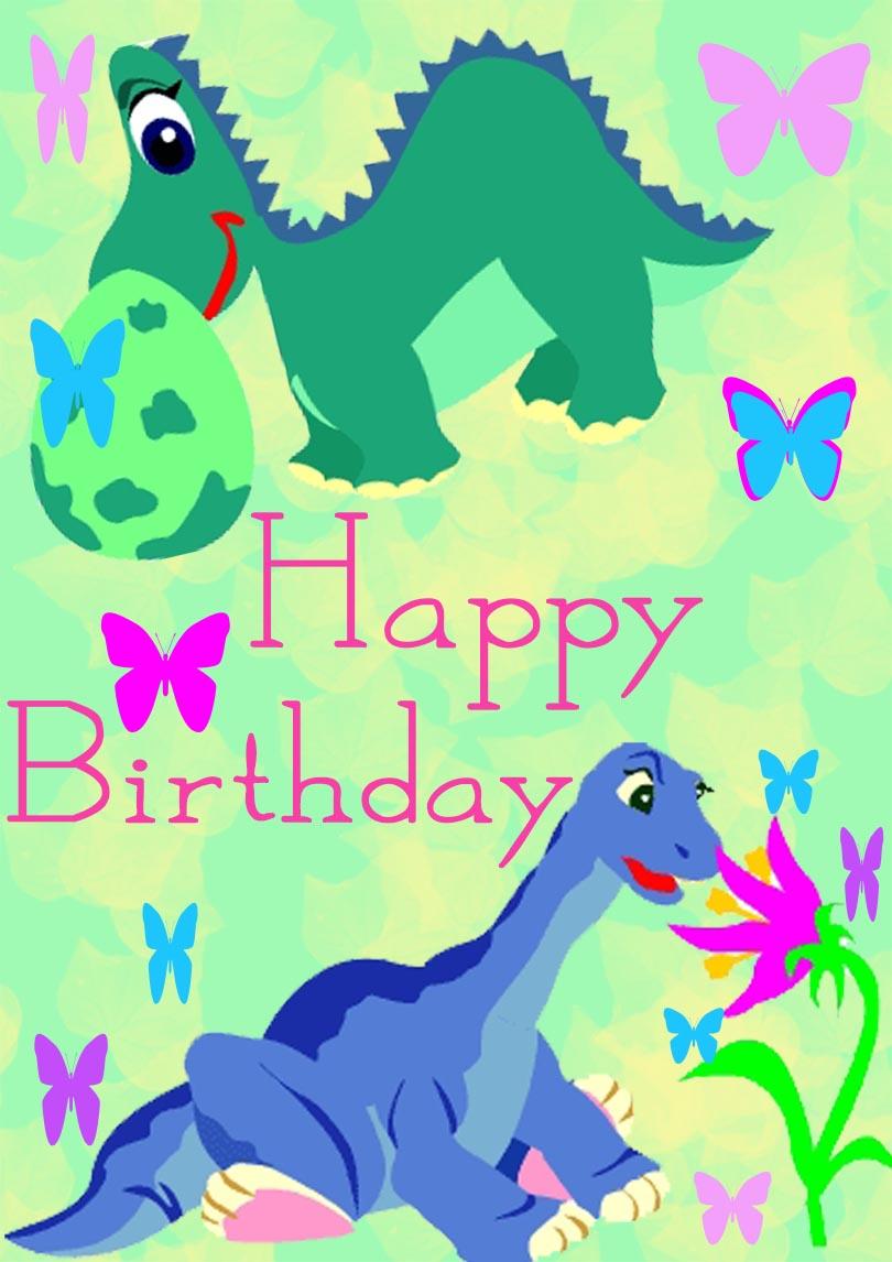 Dinosaur Birthday Cards Free Printable Cards