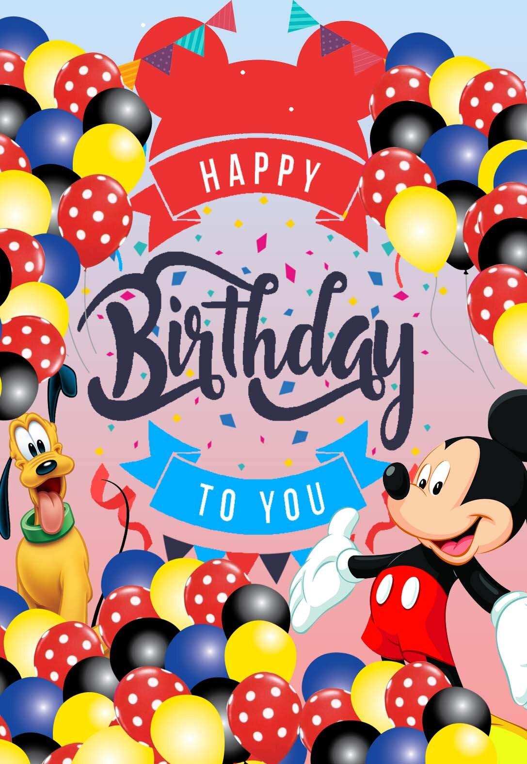 Mickey Mouse Birthday Cards Printbirthday Cards