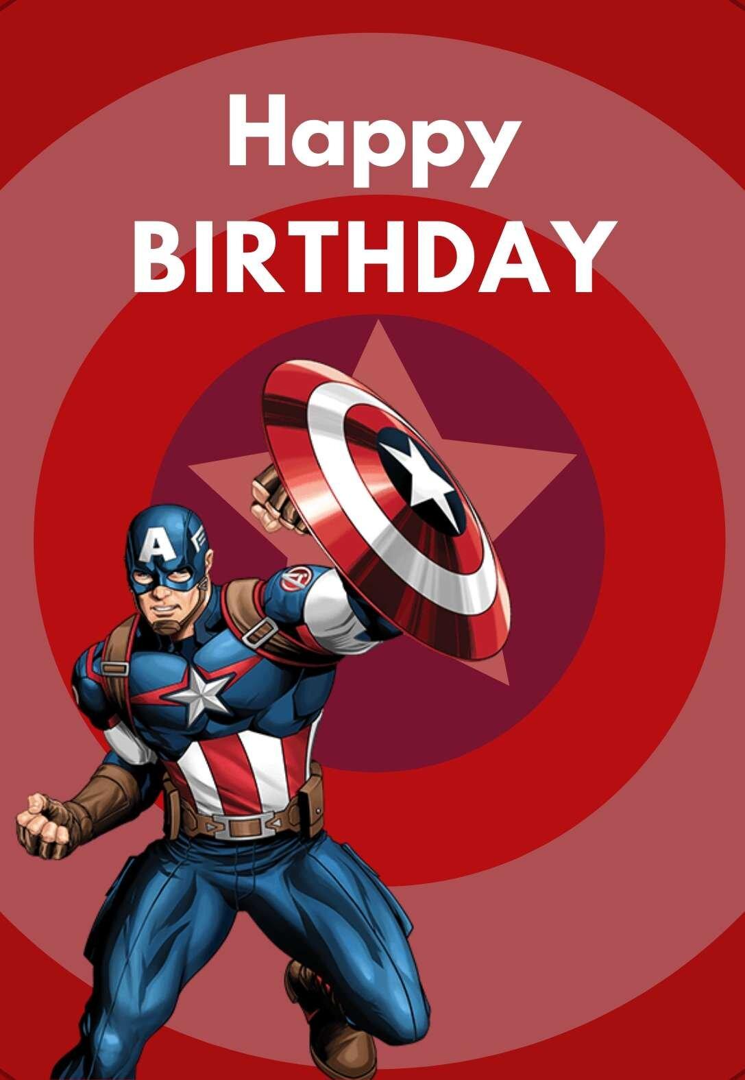 Captain America Printable Birthday Cards Printbirthday Cards
