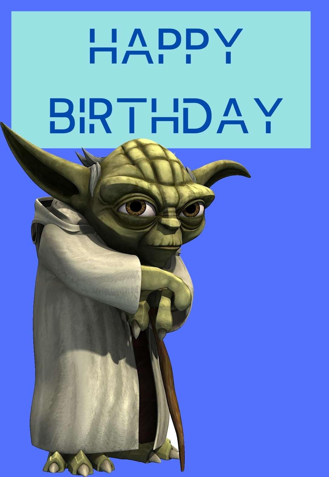 The Best Star Wars Printable Birthday Cards Free Printbirthday Cards