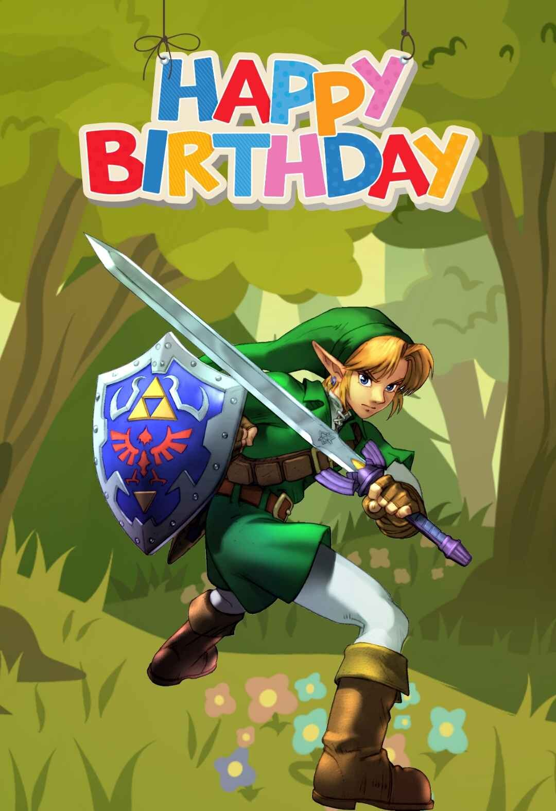 Zelda Printable Birthday Cards Printbirthday Cards