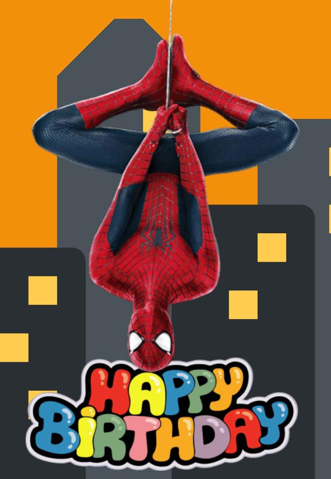spiderman printable birthday cards