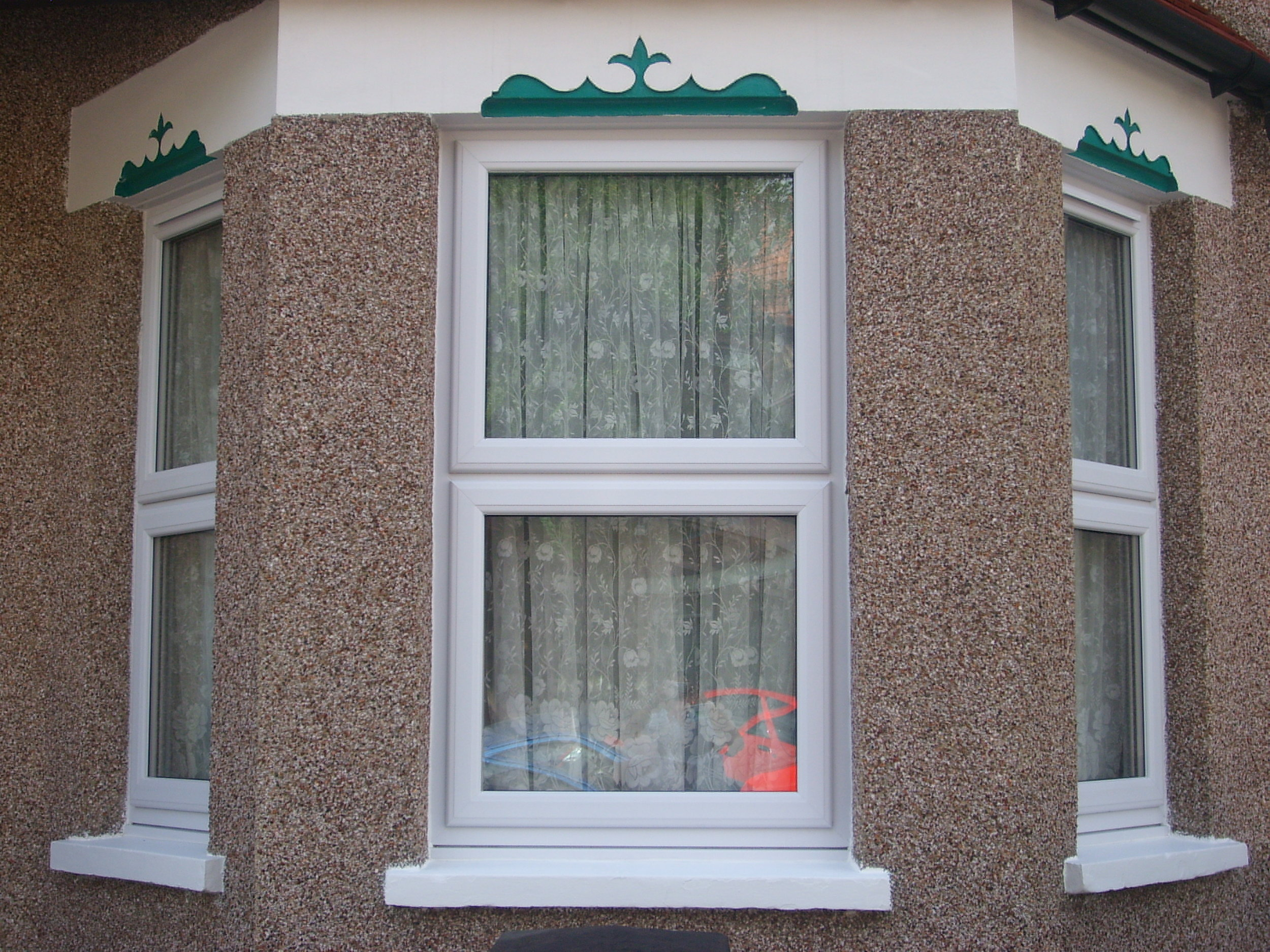 to put up net curtains on upvc windows