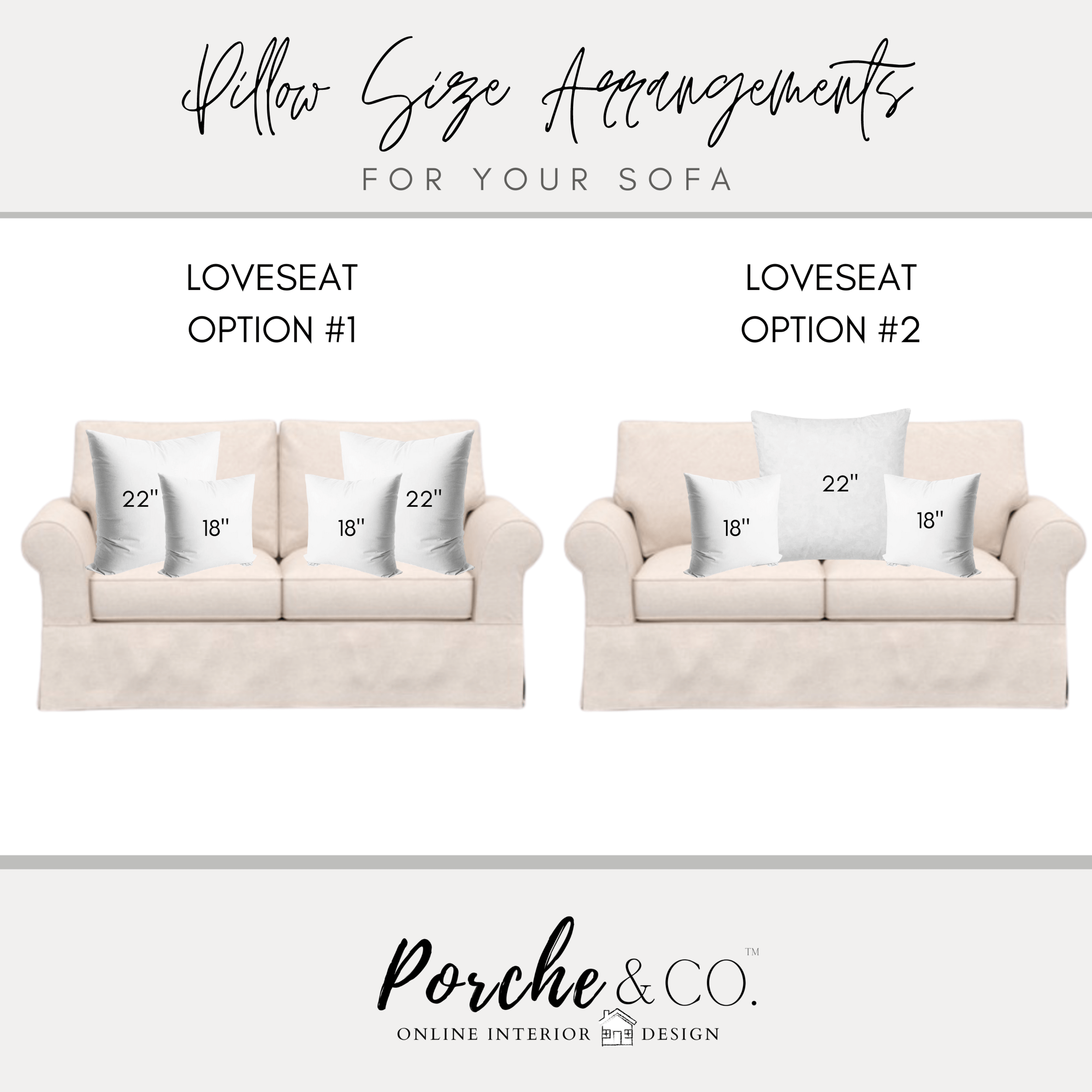 sectional throw pillow size guide