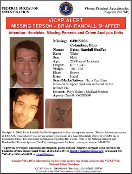 Brian's Missing Persons poster