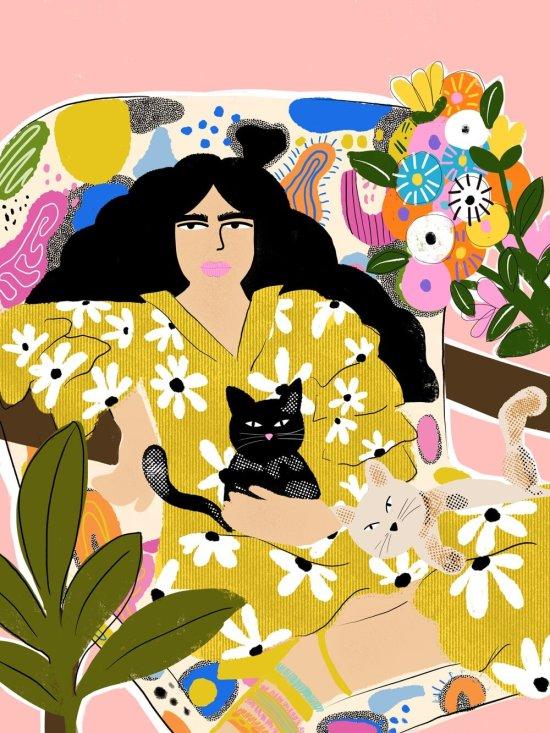 I Am friends with Cat - Art Print — Alja Horvat