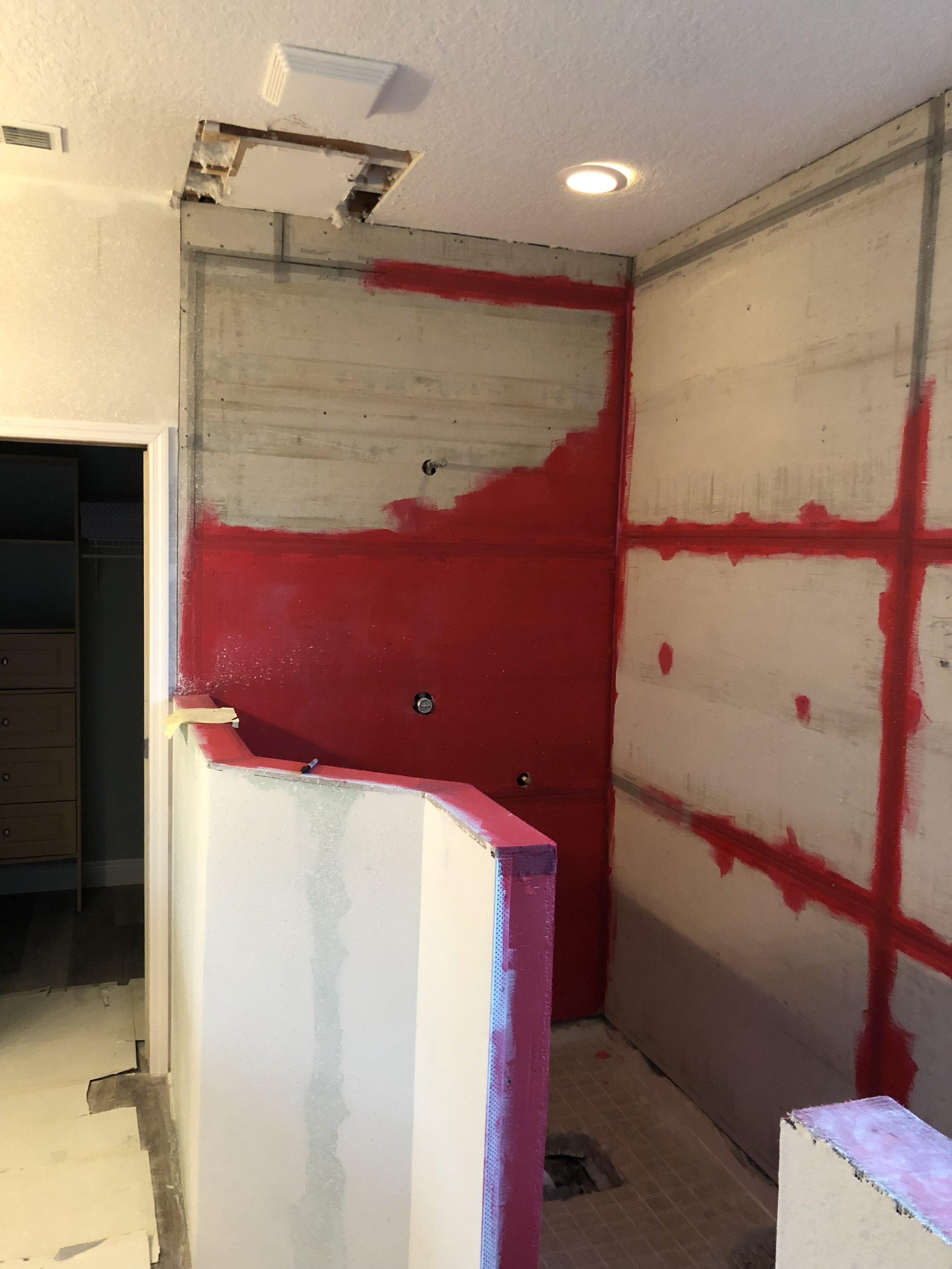 shower remodel red guard plumbing