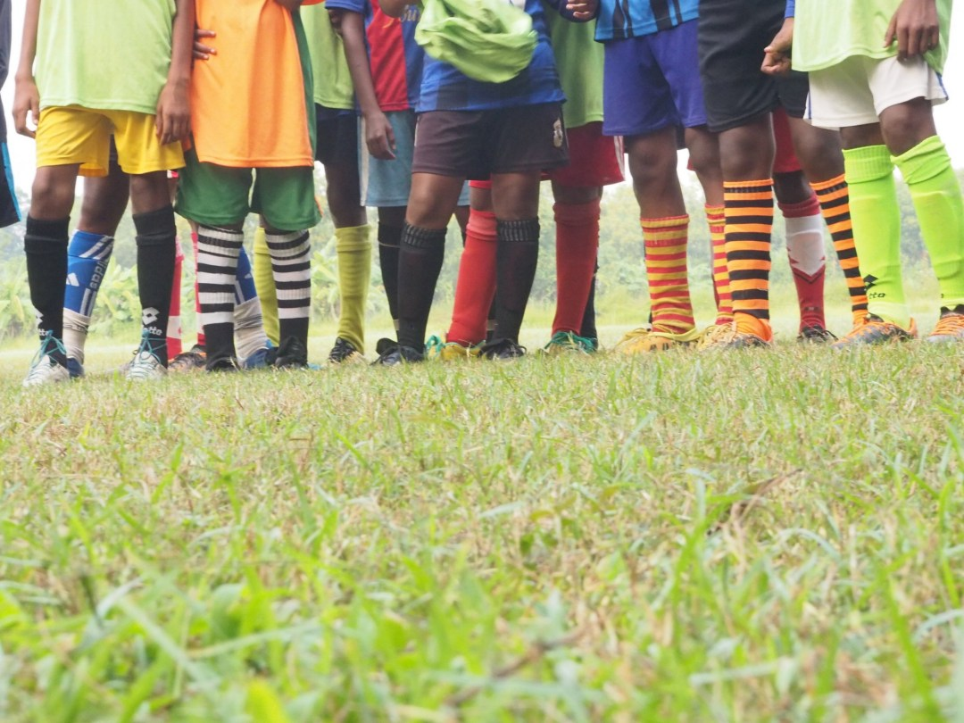 On the football field at Baruipur.