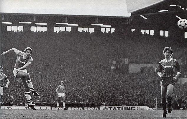 Sharp's winner in the Merseyside Derby at Anfield, voted BBC's Goal of the Season 1984/85