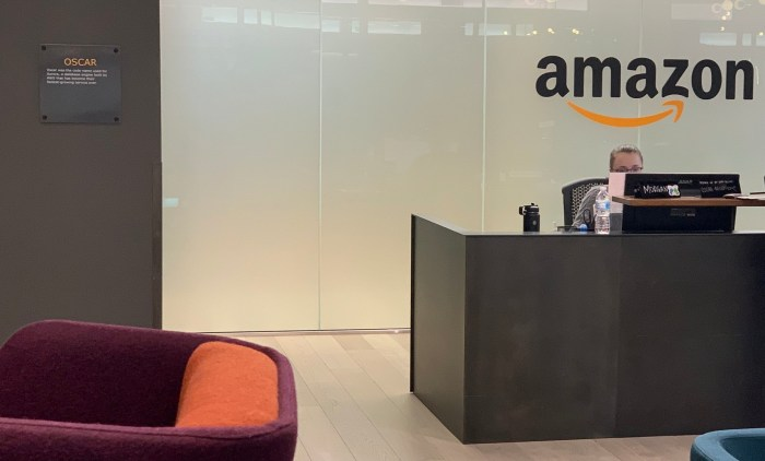 Waiting on our advisory board member at Amazon's Oscar building. January 23, 2019.