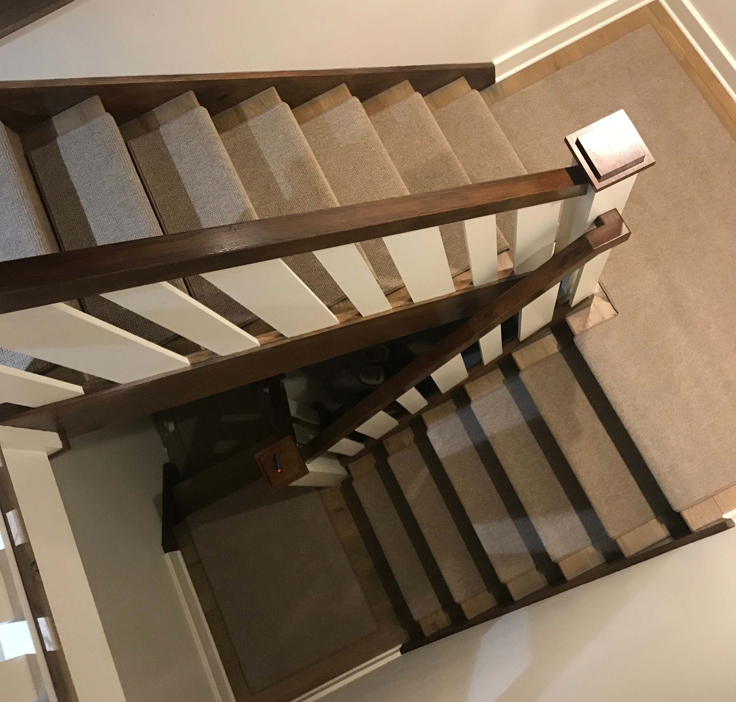 Indoor Carpet Stair Treads Oak Valley Designs | Carpet For Wooden Stairs | Search And Rescue | Bedroom | Carpeted Stair Railing Wooden Floor | Transition | Beautiful
