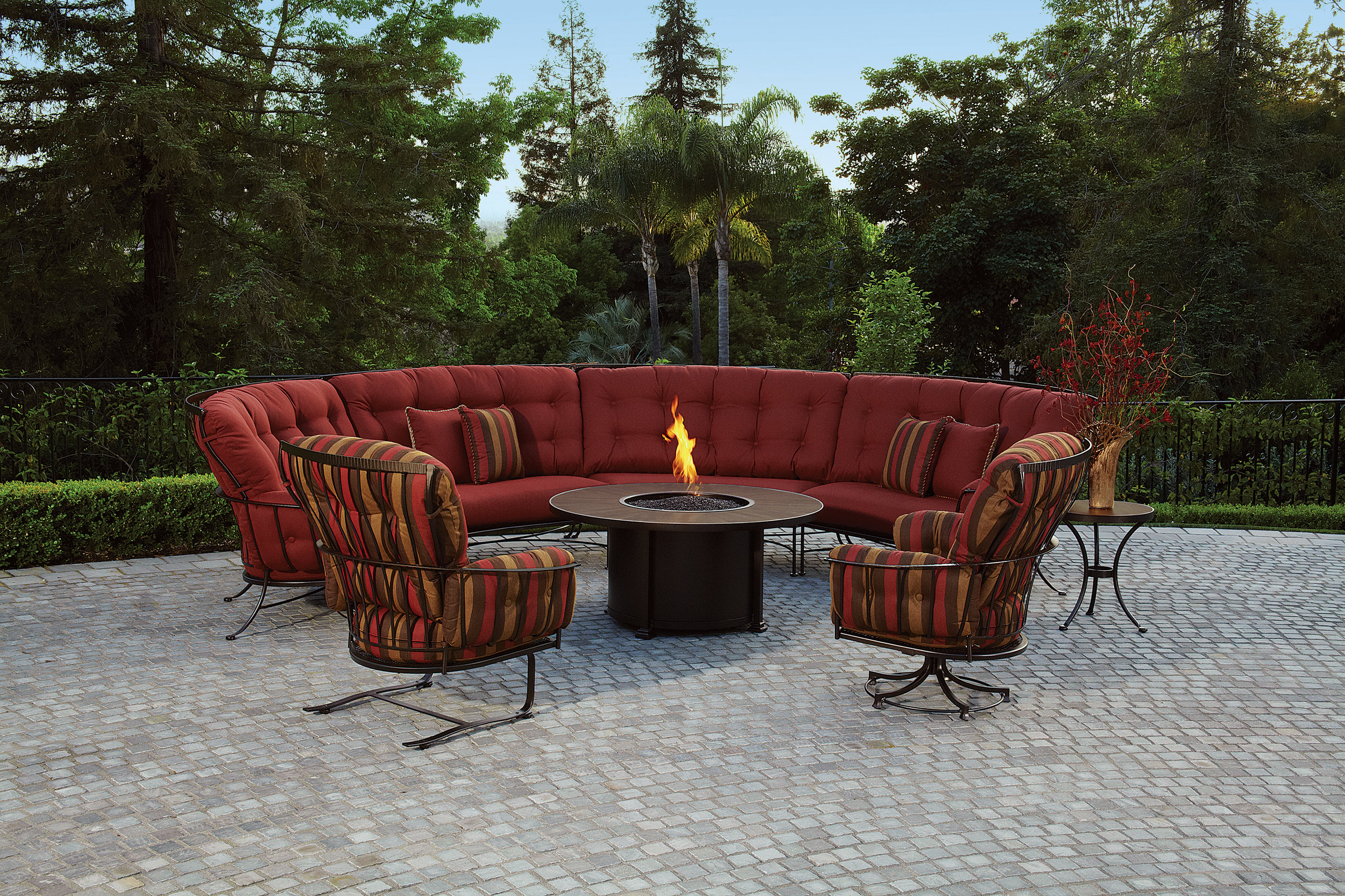 wrought iron or steel outdoor patio