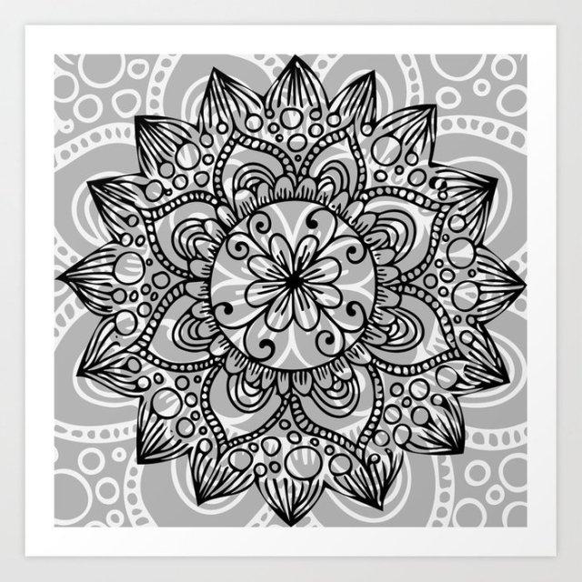Wintry Mandala I - Art Print