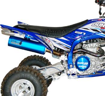 yamaha yfz 450r std fat boy 4 4 stroke power exhaust lifetime warranty duncan racing