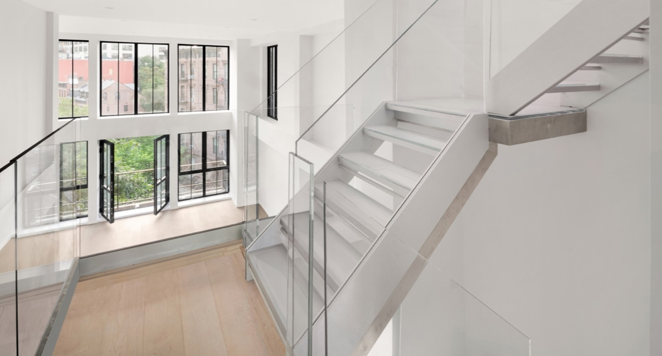 Staircases — Design Hardware | Glass Stair Treads Cost | Floating | Steel | Handrail | Hardwood | Wood