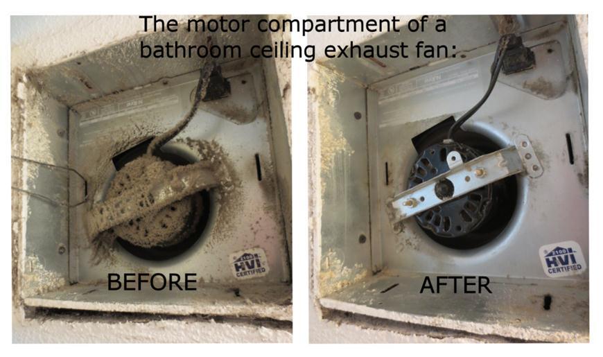 is your bathroom exhaust fan working