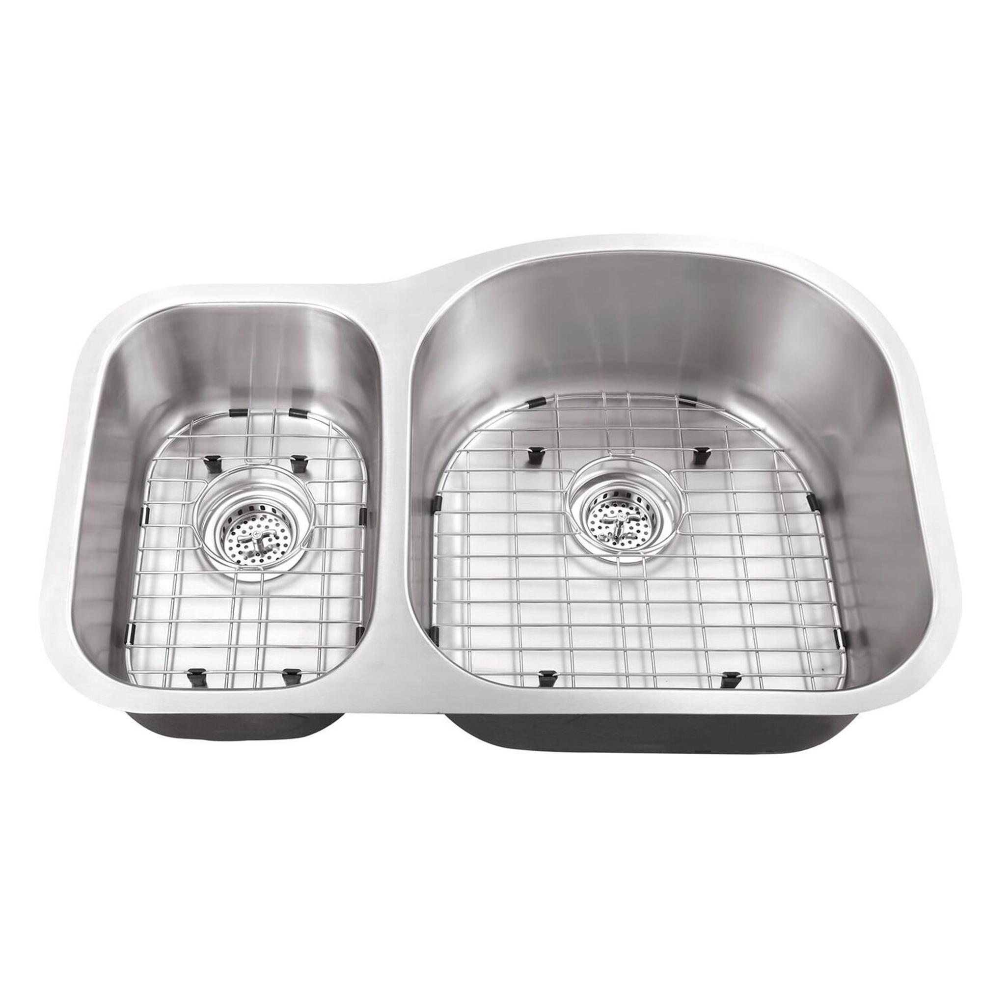 31 1 2 in 30 70 bowl eurostyle 16 ga stainless steel kitchen sink cahaba designs