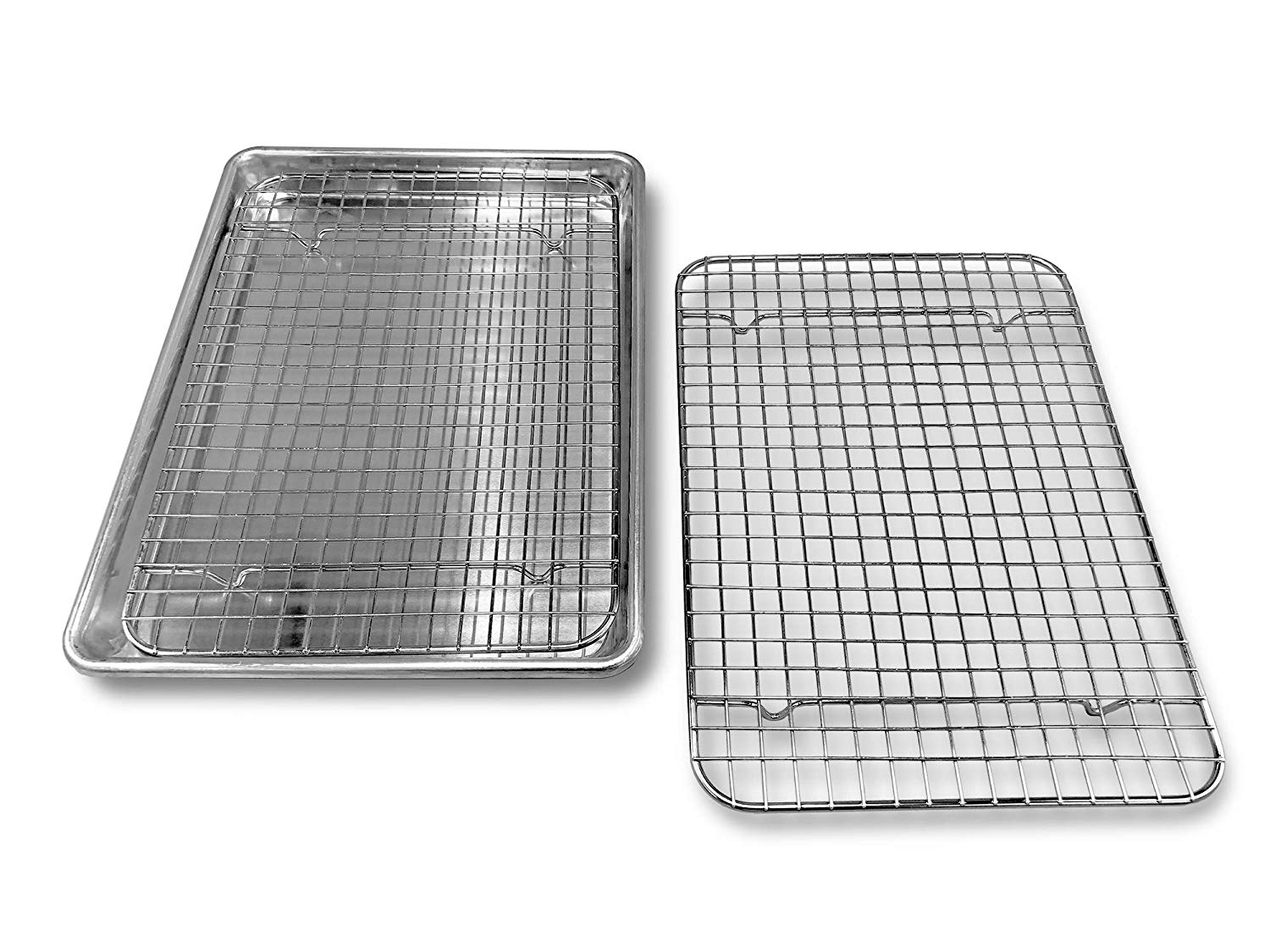 goson kitchen stainless steel heavy duty metal wire cooling cooking baking rack for baking sheet oven safe up to 575f dishwasher safe rust free