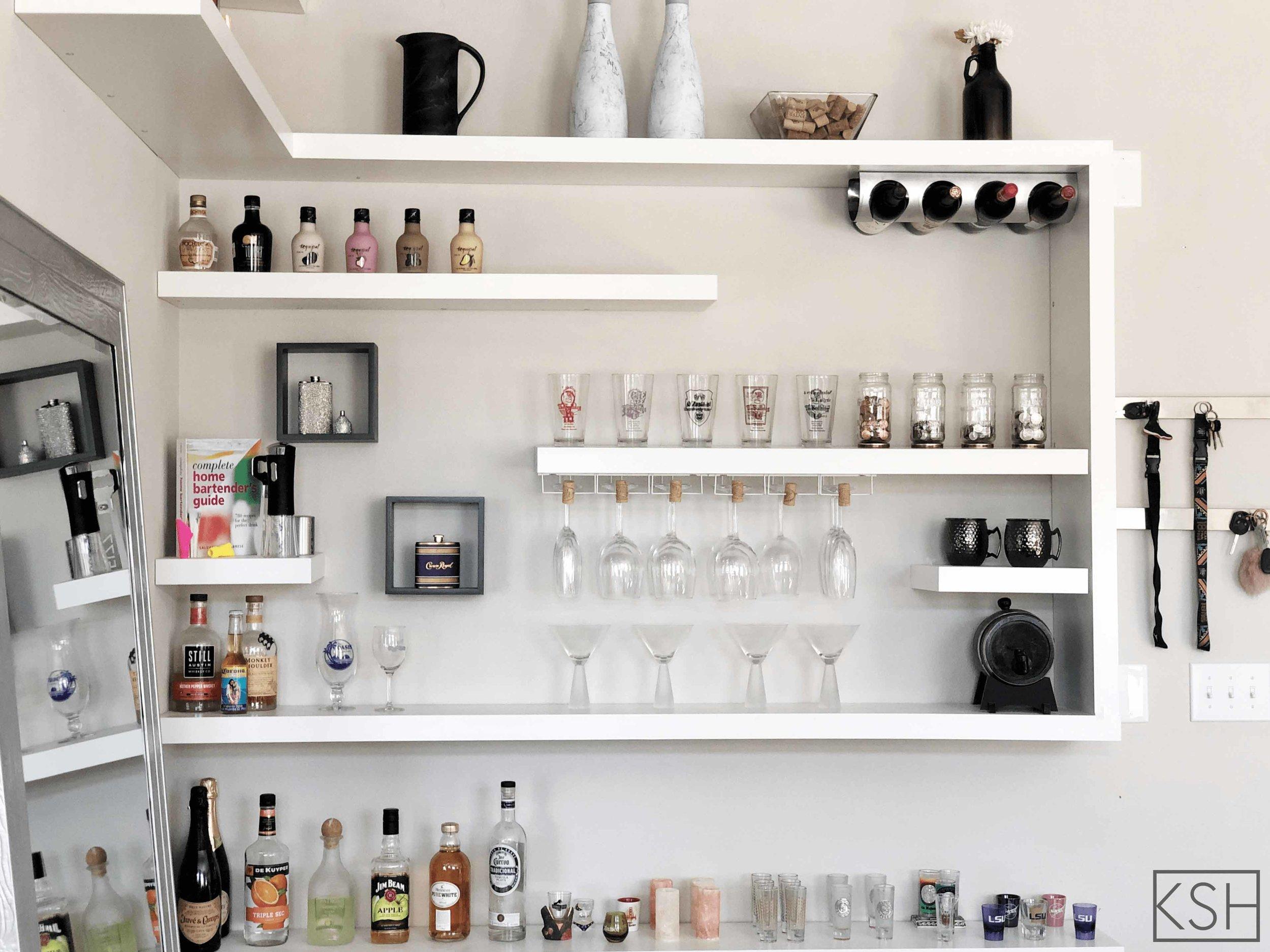 Bring On The Boo Ze How To Easily Create A Home Bar Using Ikea Furniture Kayla Simone Home