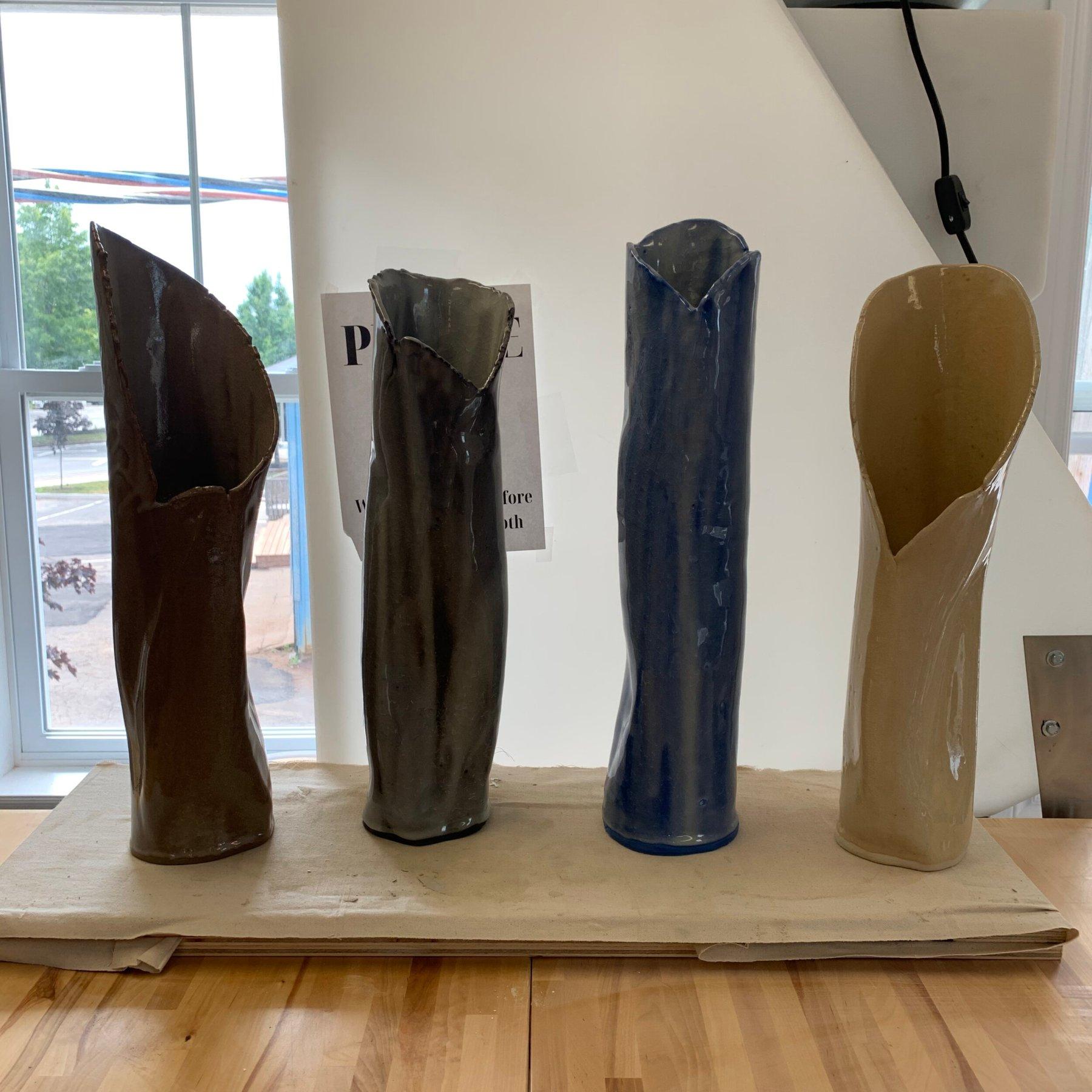5 Crackling Vases by Matt Cripps.