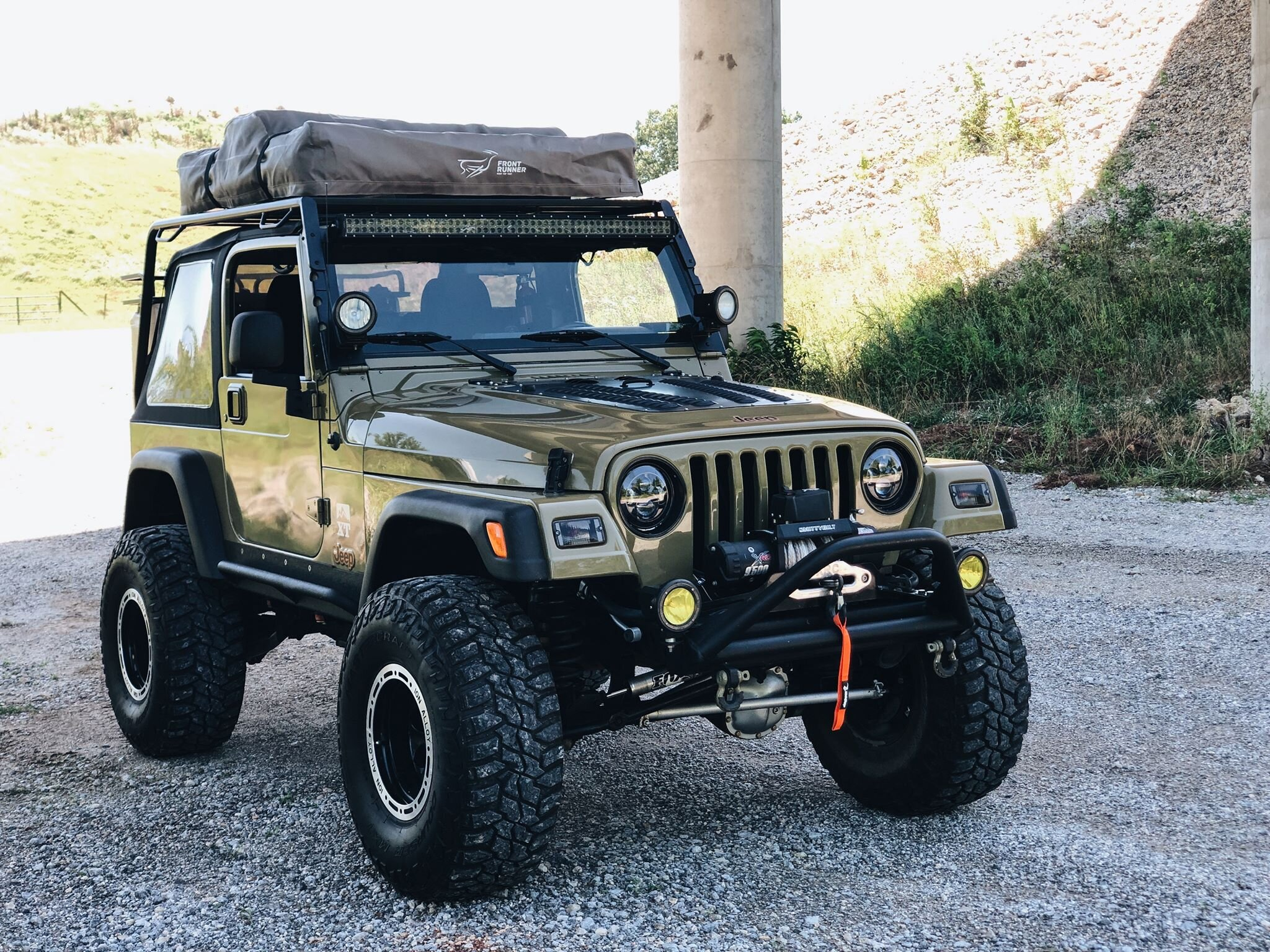 jeep tj low profile rack welding and