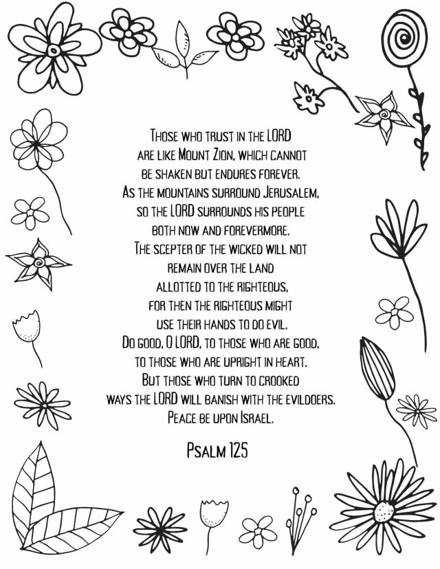 Psalms 20 - 20 - FREE PRINTABLE PSALM ADULT COLORING PAGES