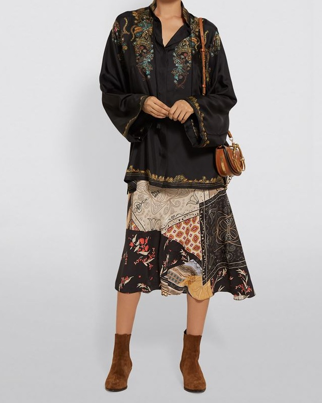 △ Etro Silk Floral Jacquard Blouse HK$7,433