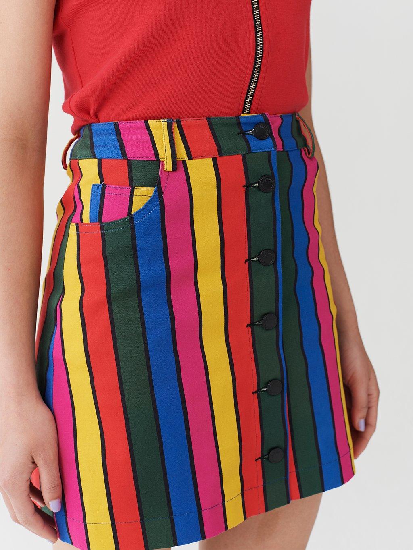 △ Lazy Oaf Stripy Button Skirt US$66.4 (~HK$521)