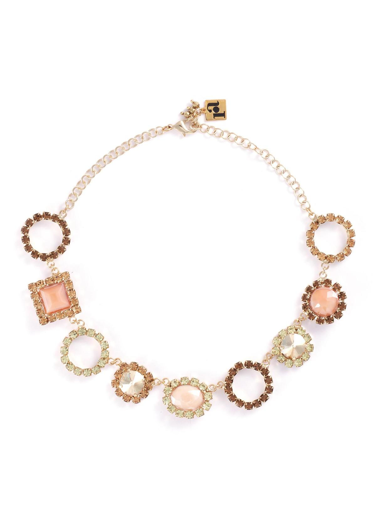 Rosantica 'Fiction Bold' Glass Crystal Geometric Station Necklace HKD$3,290