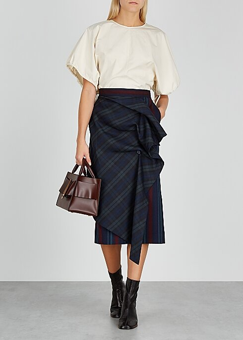 PUSHBUTTON Sway striped stretch-wool midi skirt HK$3,030