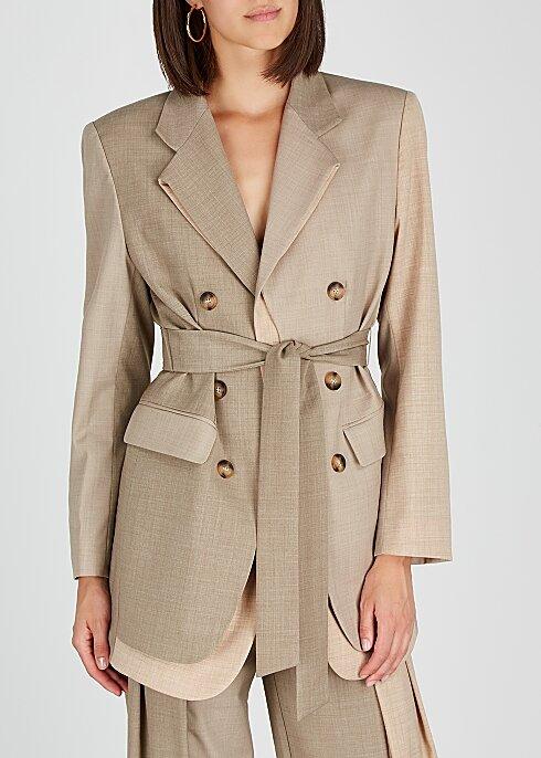 REJINA PYO Sand wool-blend blazer HK$5,130