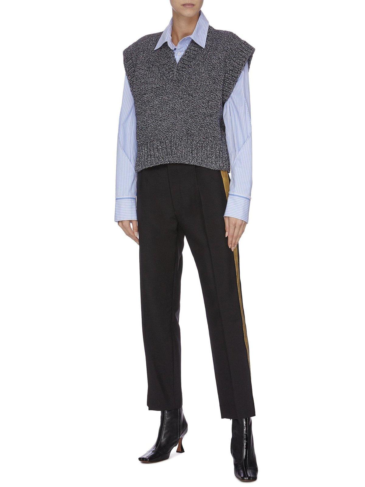 MAISON MARGIELA V Neck Peak Shoulder Marl Knit Vest HK$5,200